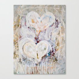 winter Hearts-2 Canvas Print