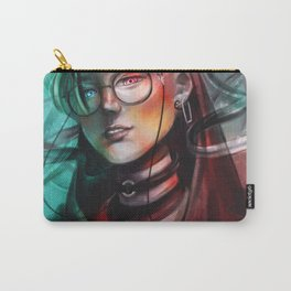 Splitted Portrait Carry-All Pouch