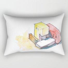 Isometric-HandPainted1 Rectangular Pillow