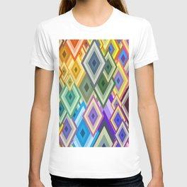 geometric colour T-shirt