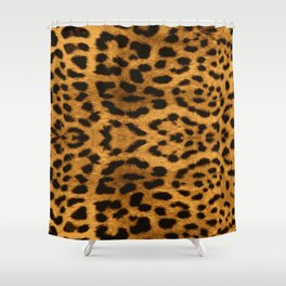 Baesic Leopard Print Shower Curtain
