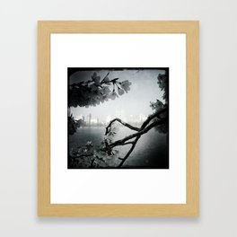 San Remo Behind Cherry Blossoms Framed Art Print