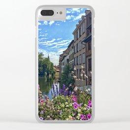 Canal de la Sarre Strasbourg Clear iPhone Case