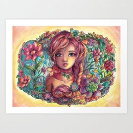 Spring Young Fairy Art Print