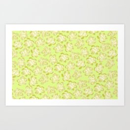 Wallflower - Butter Yellow Art Print