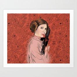 Princess Leia from StarWars Art Print