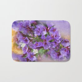 Purple Flowers Bath Mat