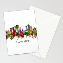 Charleston South Carolina Skyline Stationery Cards