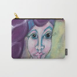 Lady in the Purple Hat Carry-All Pouch