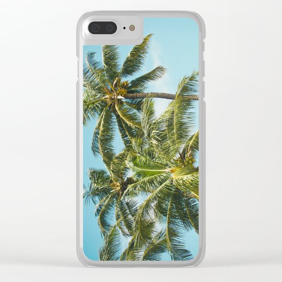 Coconut Palm Trees Sugar Beach Kihei Maui Hawaii Clear iPhone Case