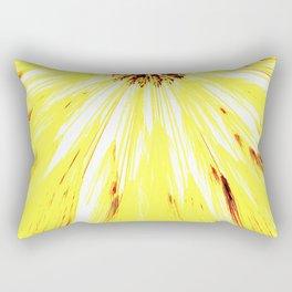 Wheat Sunburst Bright Yellow Rectangular Pillow