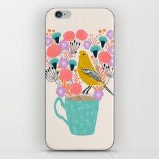 Bird and Flowers - Warbler by Andrea Lauren iPhone & iPod Skin