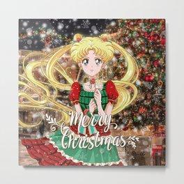 Merry Xmas Usagi Metal Print