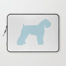 Schnauzer blue wall art sky blue Laptop Sleeve