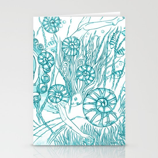 Back To The Water / Original A4 Illustration / Pen & Ink Stationery Cards