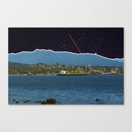 Stars in Vancouver Harbor Canvas Print