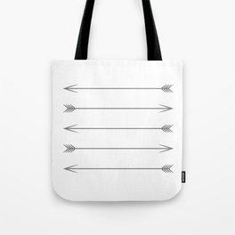 Minimal Dark Gray Arrows Tote Bag