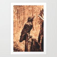 Raven (Slavanic paganism) Art Print