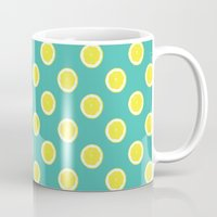 lemon Mugs featuring lemon by Panic Junkie