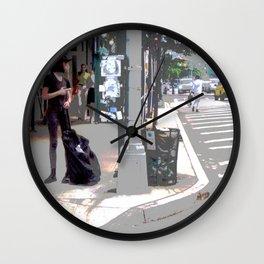 """Getting a Ride"" Wall Clock"