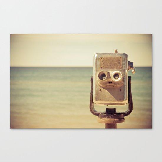 Robot Head Canvas Print