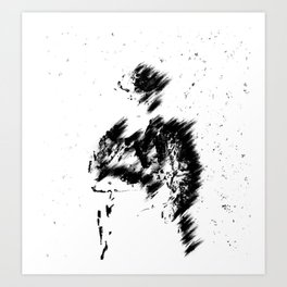 Abstract Soldier (Black) Art Print