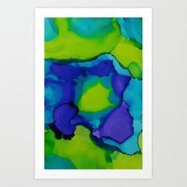 Purple and green dreams Art Print