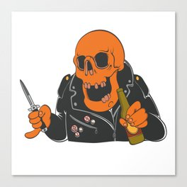 Antifa Skull Canvas Print