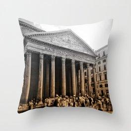 Agrippa built the Pantheon Throw Pillow