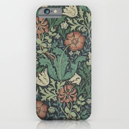 William Morris Compton Floral Art Nouveau iPhone Case