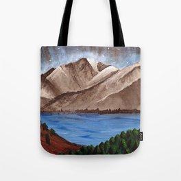 Serene Mountains Tote Bag