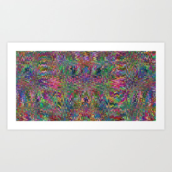 Runny Mosaic Art Print