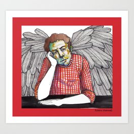 A moment of rest for my guardian angel  Art Print
