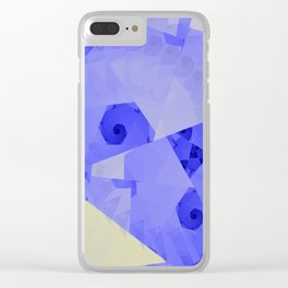 Fractal Designs Blue Face at GreenBeeMee Clear iPhone Case