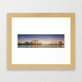 Singapore's Skyline at Sunrise Framed Art Print