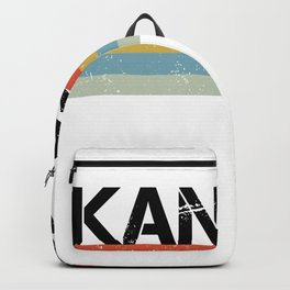 Kansas Design Gift & Souvenir For Kansas Print Backpack