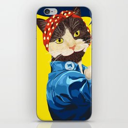 Rosie the Riveter Cat - We Can Do It! iPhone Skin
