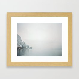 Annecy under the snow - French Alps Framed Art Print