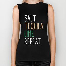 Salt Tequila Lime Repeat Funny Cinco De Mayo Biker Tank