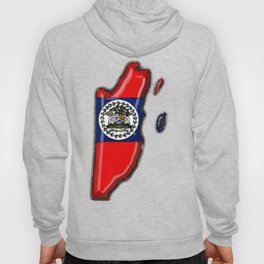Belize Map with Belizean Flag Hoody