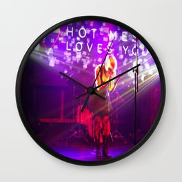 Hot Mess Loves You Wall Clock