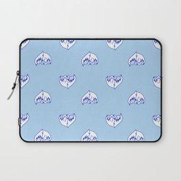 Best Friend Galentine's Day Pinky Promise Pattern in Blue Laptop Sleeve