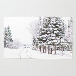 winter landscape Rug