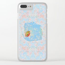 Flower Frog Clear iPhone Case