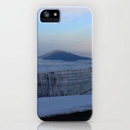 Glacier on top of Mt Kilimanjaro iPhone Case