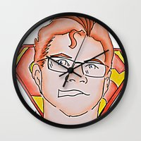 superman Wall Clocks featuring Superman by ErikMcManusInc.