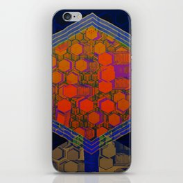 Bees Tree in the Smart City / Organic Hexagon iPhone Skin