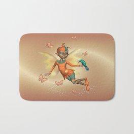 Pixie .. fantasy fairy art Bath Mat