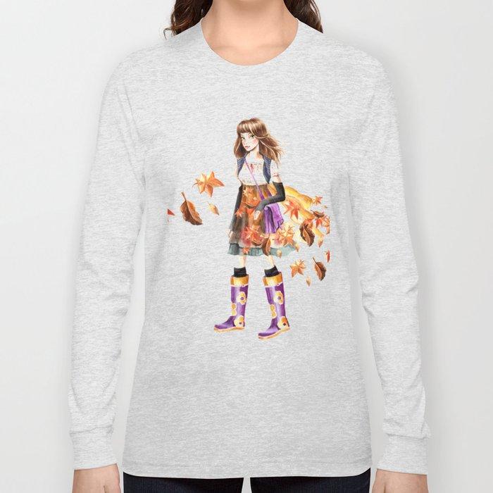 Autumn Girl Long Sleeve T-shirt