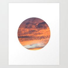 Berkshire Sunset II circle Art Print